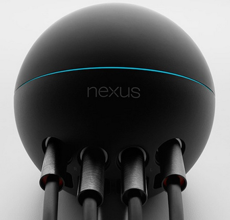 Google Nexus Q Social Streaming Media Player speaker connected