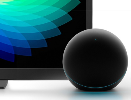Google Nexus Q Social Streaming Media Player with tv