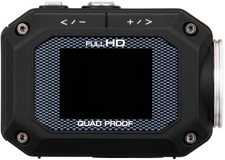 JVC ADIXXION GC-XA1 Quad-proof Rugged Action Camera lcd display