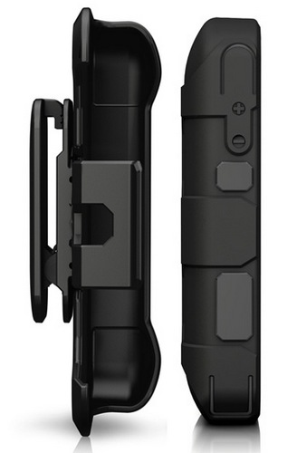 Mophie juice pack PRO Rugged iPhone Battery Case side with belt-clip