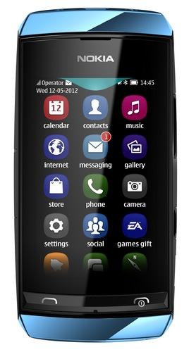 Nokia Asha 306 resistive touchscreen phone