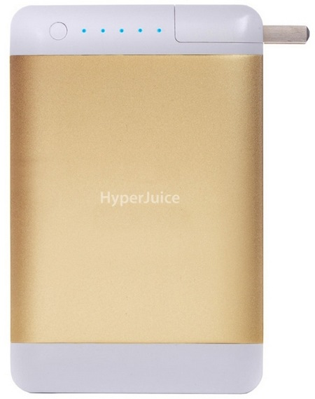 Sanho HyperJuice Plug P15 High-capacity Portable Battery gold