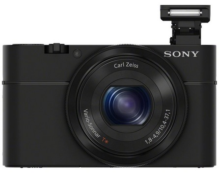 Sony Cyber-shot DSC-RX100 Compact Camera with Large Sensor front flash
