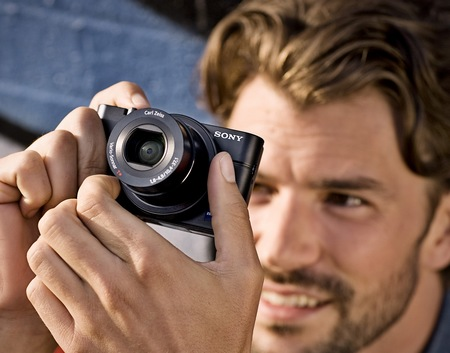 Sony Cyber-shot DSC-RX100 Compact Camera with Large Sensor in use
