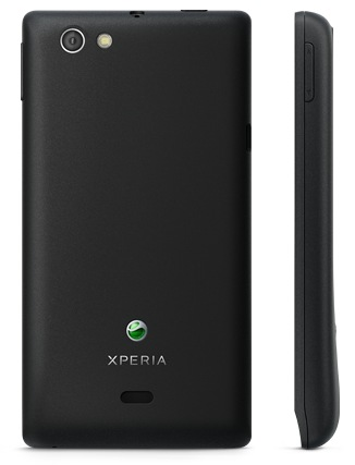 Sony Xperia miro Social Smartphone back
