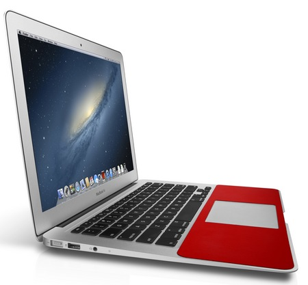 Twelve South SurfacePad for Air Leather Cover MacBook Air angle