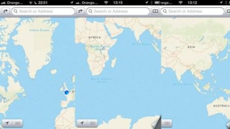 iOS 6 maps fail