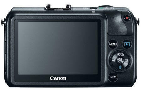 Canon EOS M Mirrorless Interchangeable Lens Camera back