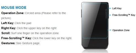 Gigabyte Aivia Xenon Dual-mode Touchpad Mouse mouse mode