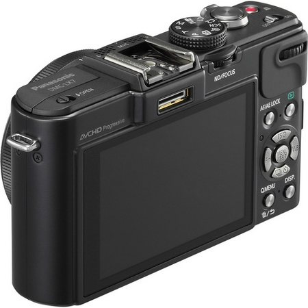 Panasonic LUMIX DMC-LX7 Digital Camera with F1.4 Lens angle back