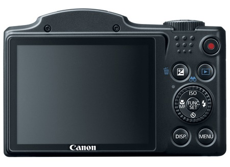 Canon PowerShot SX500 IS 30x long zoom camera back