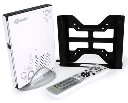 Giada A51 AMD-powered Mini PC with mount remote