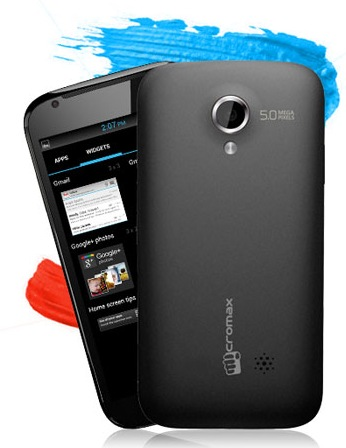 Micromax Superfone Canvas A100 dual-sim android smartphone back
