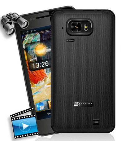 Micromax Superfone Pixel A90 Dual-SIM Android Smartphone back