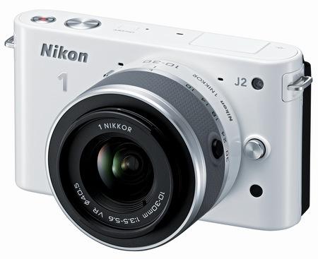Nikon 1 J2 Mirrorless Camera white