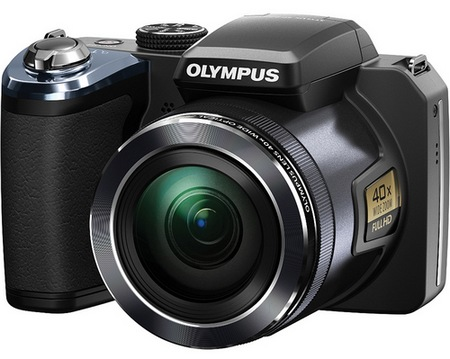 Olympus STYLUS SP-820UZ iHS gets 40x Ultra Zoom black