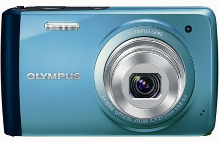 Olympus STYLUS VH-410 Compact Touchscreen Digital Camera blue