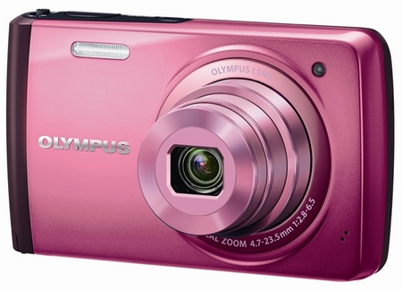 Olympus STYLUS VH-410 Compact Touchscreen Digital Camera pink