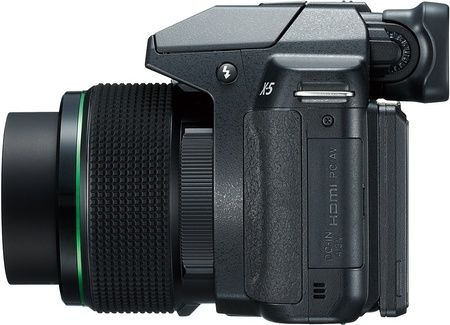 Pentax X-5 Digital Camera with 26x Long Zoom side