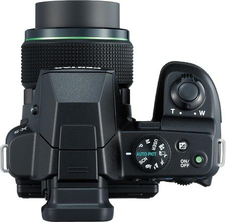 Pentax X-5 Digital Camera with 26x Long Zoom top