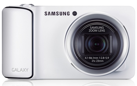 Samsung Galaxy Camera 21x Long Zoom Camera running Android 4.1 Jelly Bean front