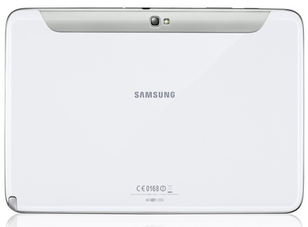 Samsung Galaxy Note 10.1 Tablet white back