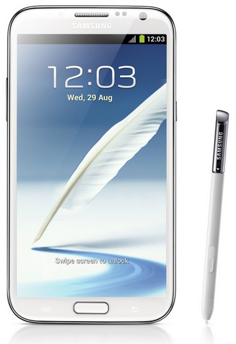 Samsung Galaxy Note II gets 5.5-inch Super AMOLED, Quad-core CPU, Android 4.1 white