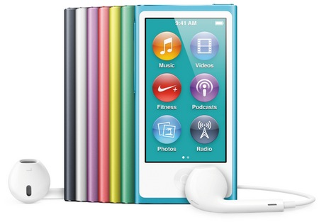 Apple iPod nano 7th gen with 2.5-inch Multitouch Display colors 1