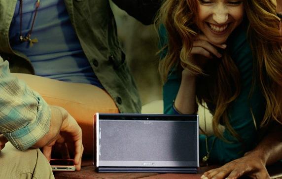 Bose SoundLink Bluetooth Mobile Speaker II in use