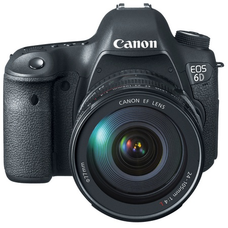Canon EOS 6D Mid-range Full-frame DSLR Camera with WiFi and GPS EF 24-105mm front