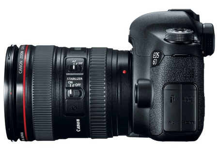Canon EOS 6D Mid-range Full-frame DSLR Camera with WiFi and GPS side