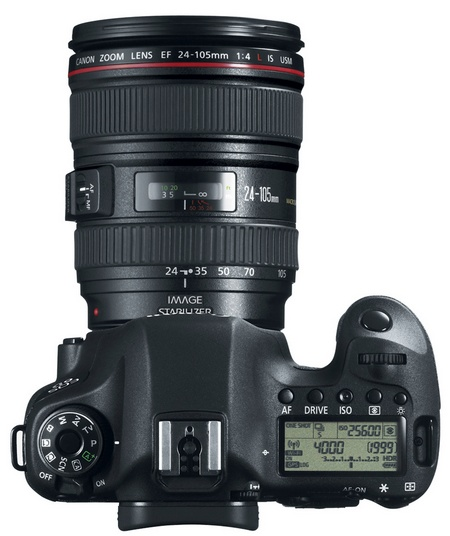 Canon EOS 6D Mid-range Full-frame DSLR Camera with WiFi and GPS top with lens