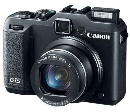 Canon PowerShot G15 Camera gets f1.8-2.8 Lens flash open