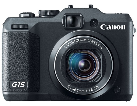Canon PowerShot G15 Camera gets f1.8-2.8 Lens front