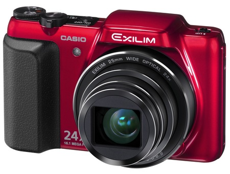Casio EXILIM EX-H50 24x Zoom Camera red
