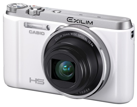 Casio EXILIM EX-ZR1000 High-speed Digital Camera white