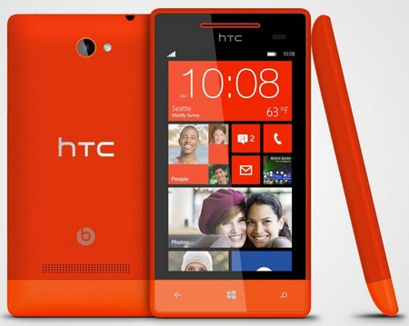 HTC 8S Mid-range Windows Phone 8 Smartphone Fiesta Red