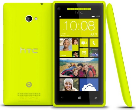 HTC 8X Windows Phone 8 Smartphone Limelight yellow