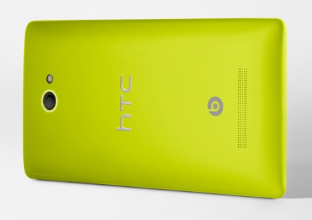 HTC 8X Windows Phone 8 Smartphone limelight yellow back