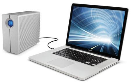 LaCie 2big Quadra USB 3.0 multi-bay RAID storage system with mac