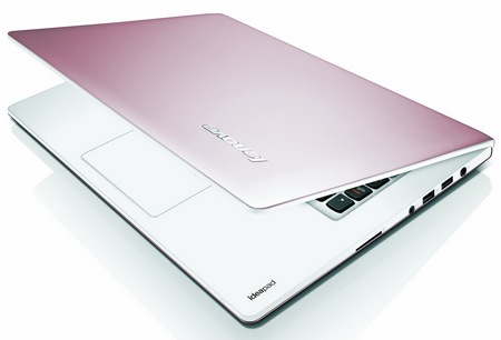 Lenovo IdeaPad S300, S400 and S405 Ultraportable Notebooks pink