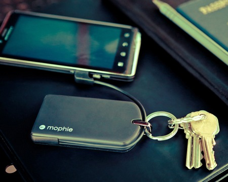 Mophie juice pack reserve micro with key ring keyring