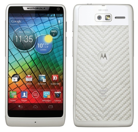 Motorola RAZR i gets 2GHz Intel Atom CPU white