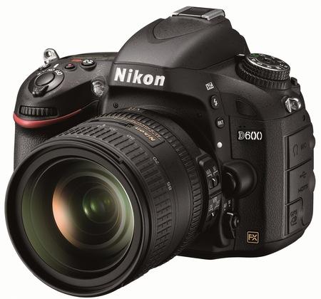 Nikon D600 Full-Frame DSLR Camera angle