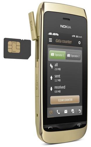 Nokia Asha 308 S40 Touchscreen Phone dual sim