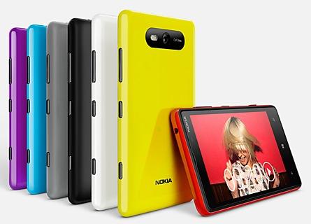 Nokia Lumia 820 Windows Phone 8 Smartphone colors 1