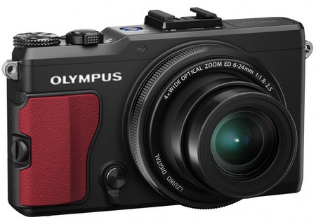 Olympus STYLUS XZ-2 iHS Flagship Compact Camera red grip