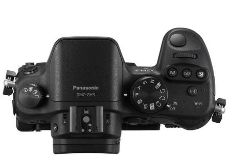 Panasonic LUMIX DMC-GH3 Micro Four Thirds Camera top