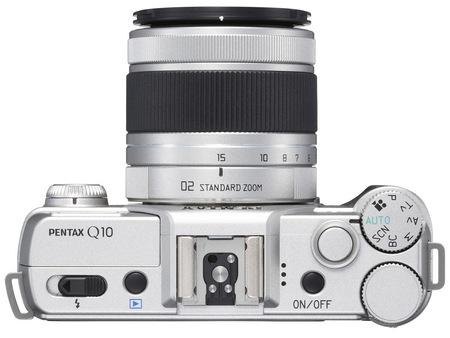 Pentax Q10 Mirrorless Interchangeable Lens Camera silver top