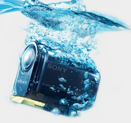 Sony Action Cam HDR-AS10 and HDR-AS15 HD Sports Cameras water